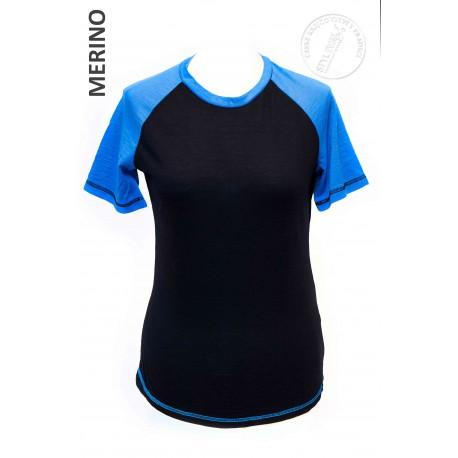 MARINA černá v kombinaci s modrou